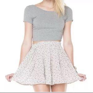 Brandy Melville One Size Blue Cream Lima Skirt